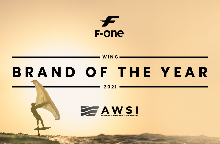 F-ONE wins AWSI Wing Foil Brand of the Year!